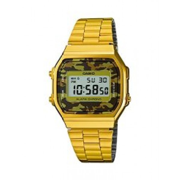 CASIO A168WEGC-5EF GOLD EFFECT DIGITAL GENTS WATCH